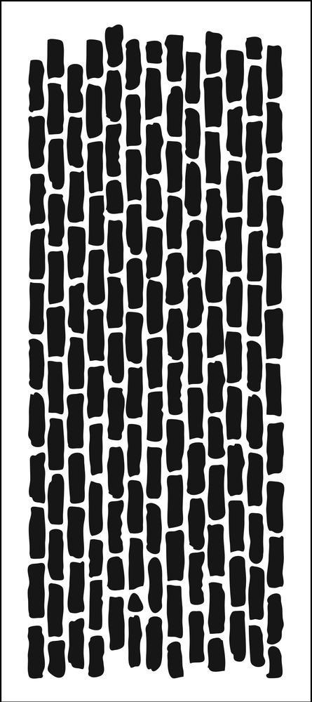 Horizontal Bricks Slimline Stencil