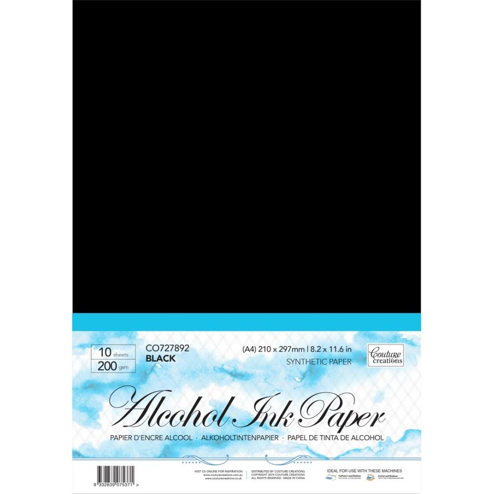 Black Synthetic, Alcohol Paper