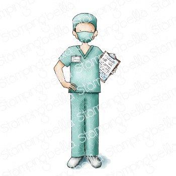 Male Nurse Stamp