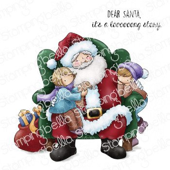 Tiny Townies on Santa's Lap Stamp