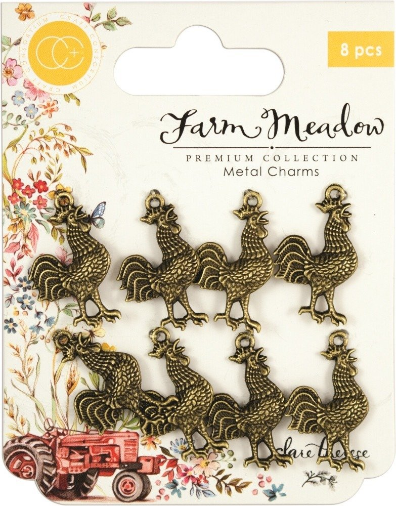 Farm Meadow - Rooster - Craft Consortium Metal Charms