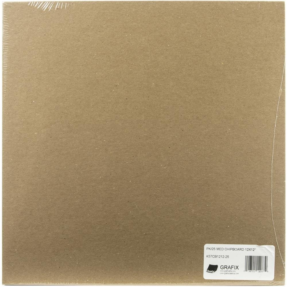 Chipboard, .057 Natural - 12 x 12 (25 Pack)