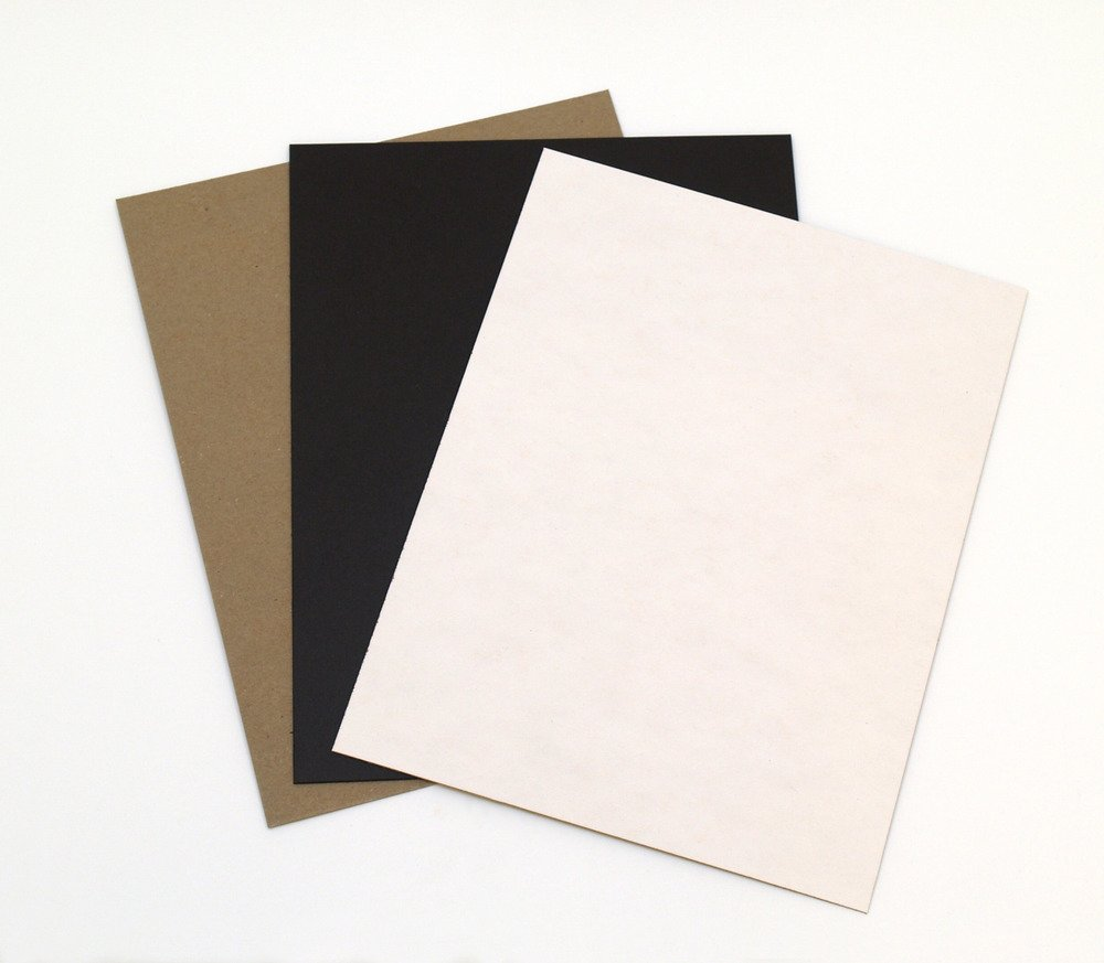Chipboard, Assorted - 8.5 x 11 (15 Pack)