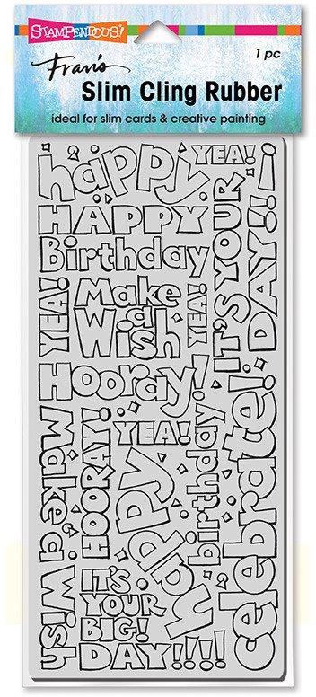 Birthday Words Slimline Stamp