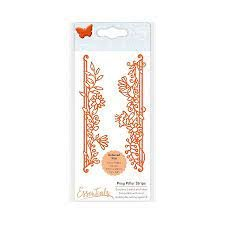 Tonic Studios Die -Fanciful Floral Posy Pillar Strips