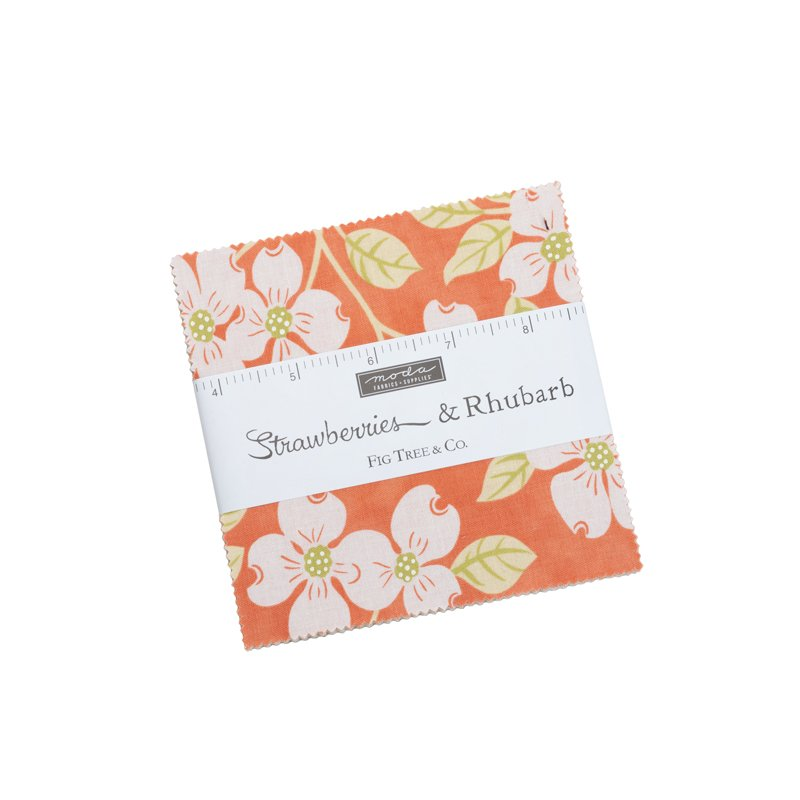 Strawberries & Rhubarb Charm Pack by Fig Tree Quits for Moda SKU# 20400PP