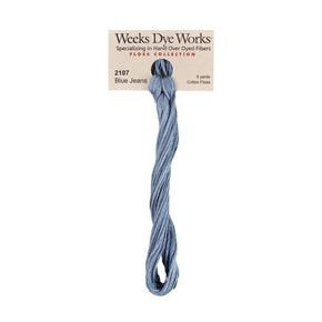 Blue Jeans -  Weeks Dye Works 6 Strand Hand-Dyed Embroidery Floss  SKU# WDW-2107