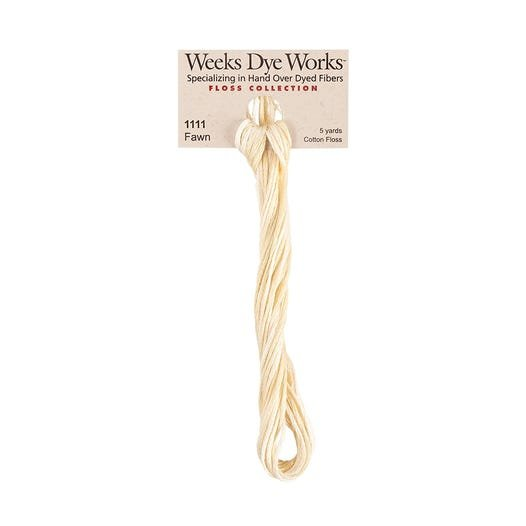 Fawn - Weeks Dye Works 6 Strand Hand-Dyed Embroidery Floss SKU# WDW-1111
