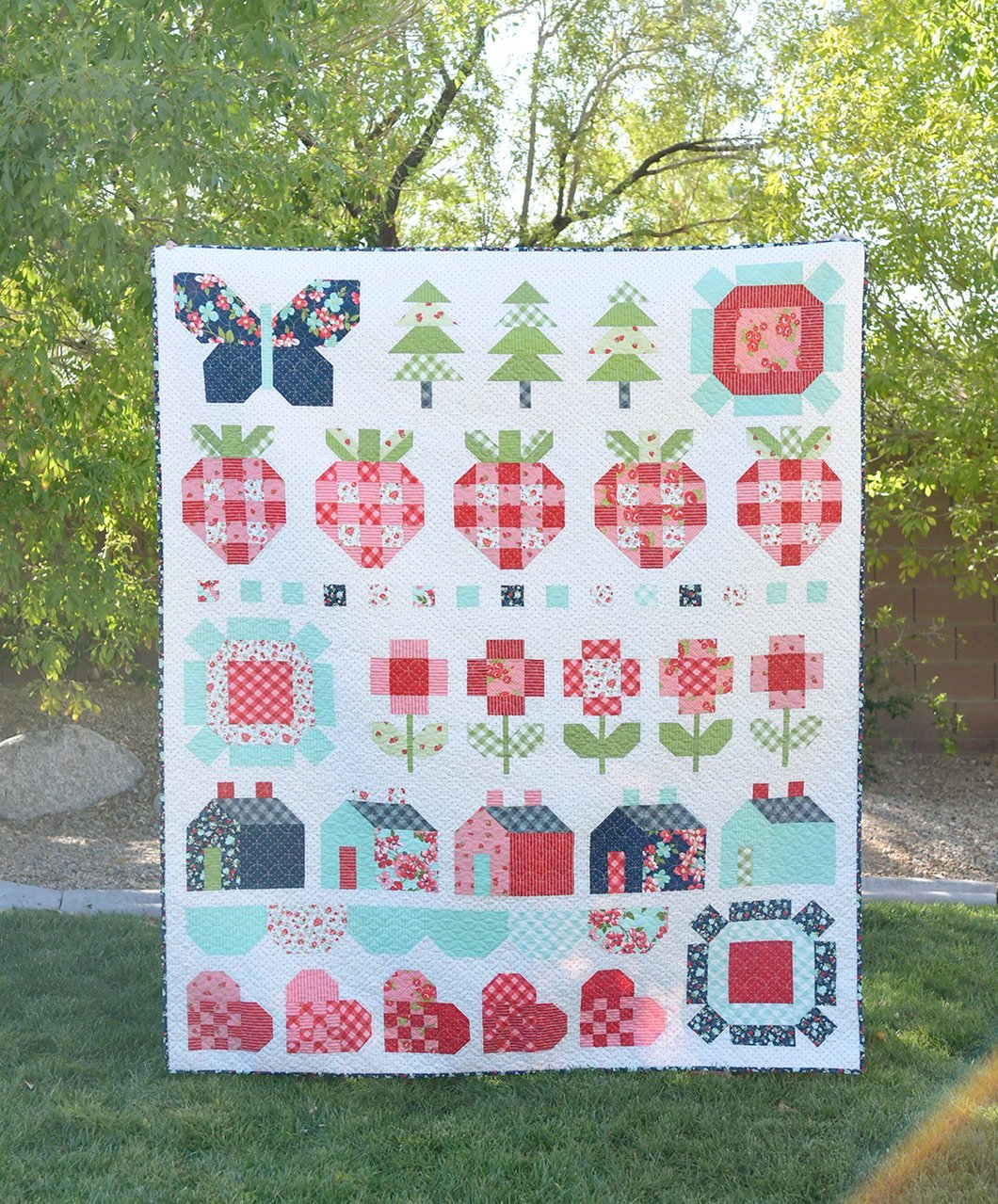 Stroll Quilt Kit featuring Sunday Stroll by Bonnie & Camille for Moda Fabrics SKU#