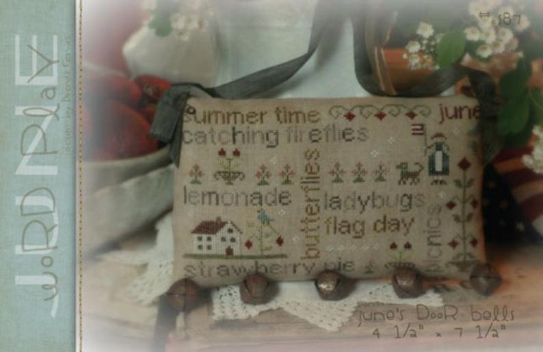 June Word Play by Brenda Gervais for With Thy Needle & Thread Counted Cross Stitch Pattern SKU# 999949