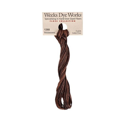 Molasses Weeks Dye Works 6 Strand Hand-Dyed Embroidery Floss  #WDW-1268