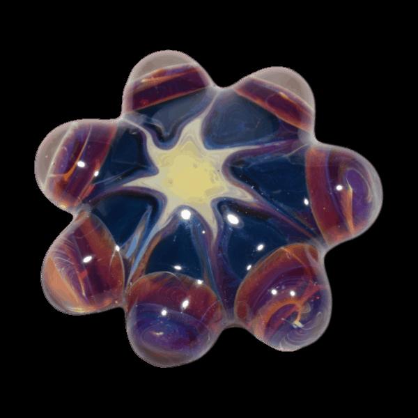 Lampwork Glass Cabochon Mandala Star