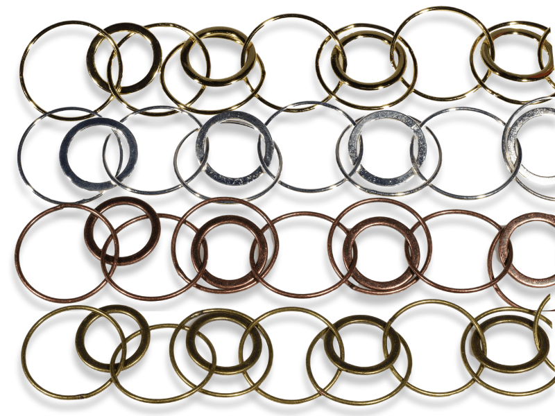 Loopy Circle Chain in 4 metal colors
