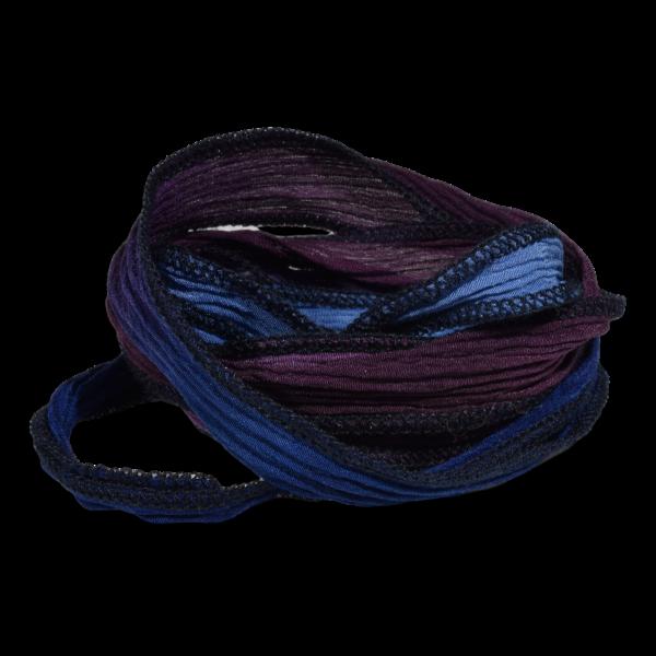 Silk Ribbon Blue and Purple