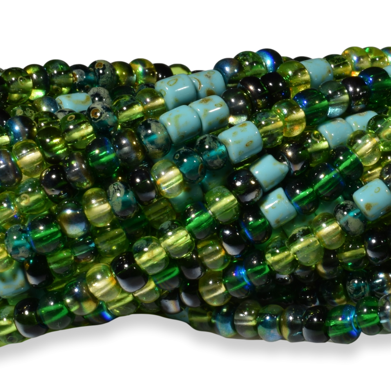 Aged Green Sensations Striped Tube Mix