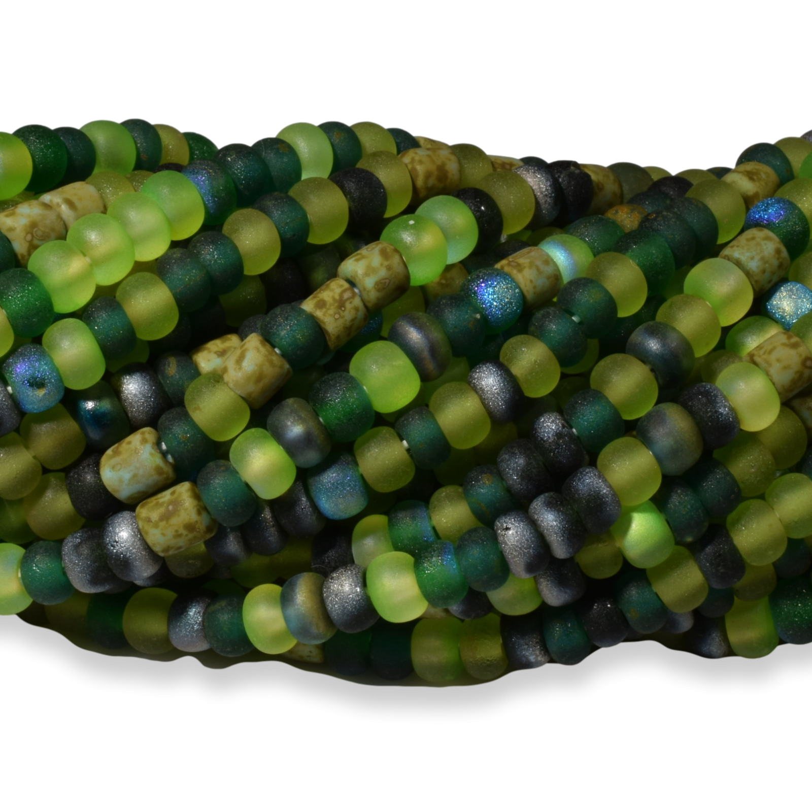 Aged Green Sensations Matted Striped Tube Mix
