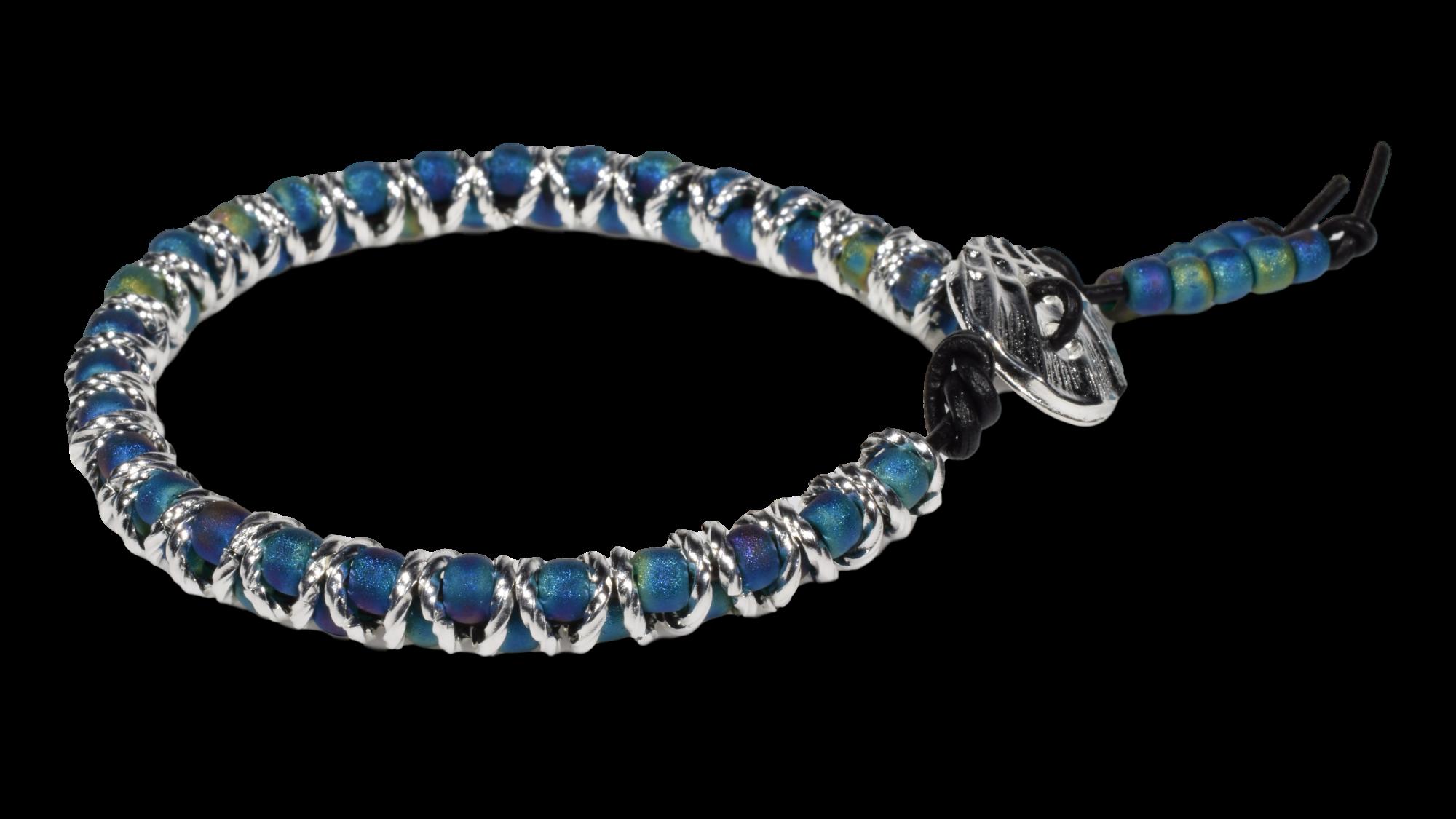 Zig Zag Bracelet Kit with small beads
