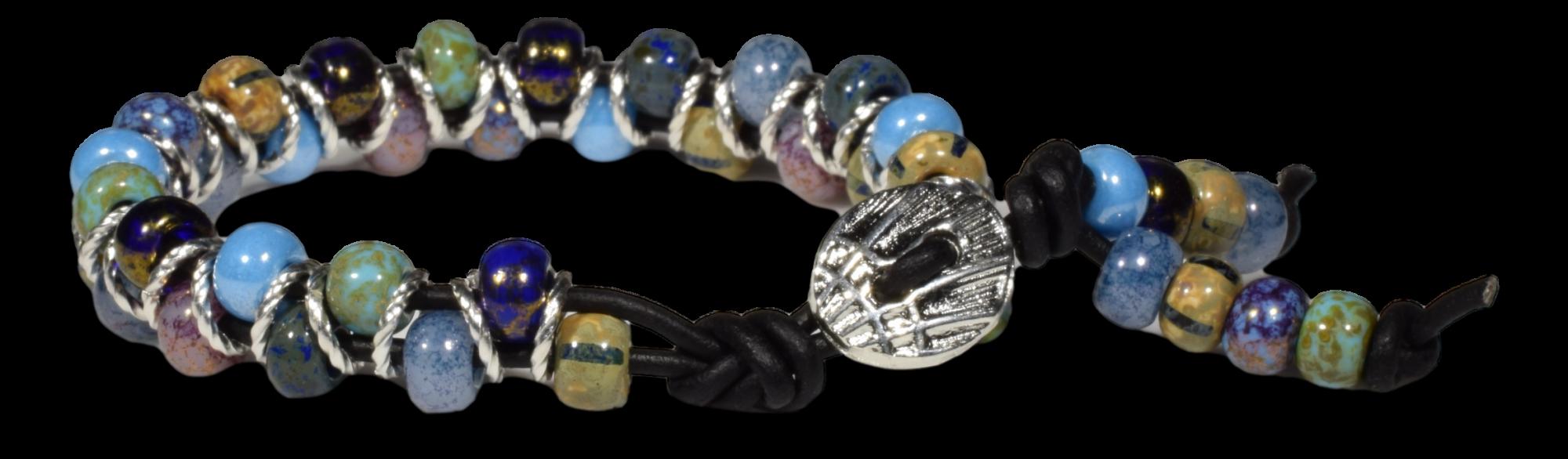 Czech Glass Bead Zig Zag Bracelet Kit