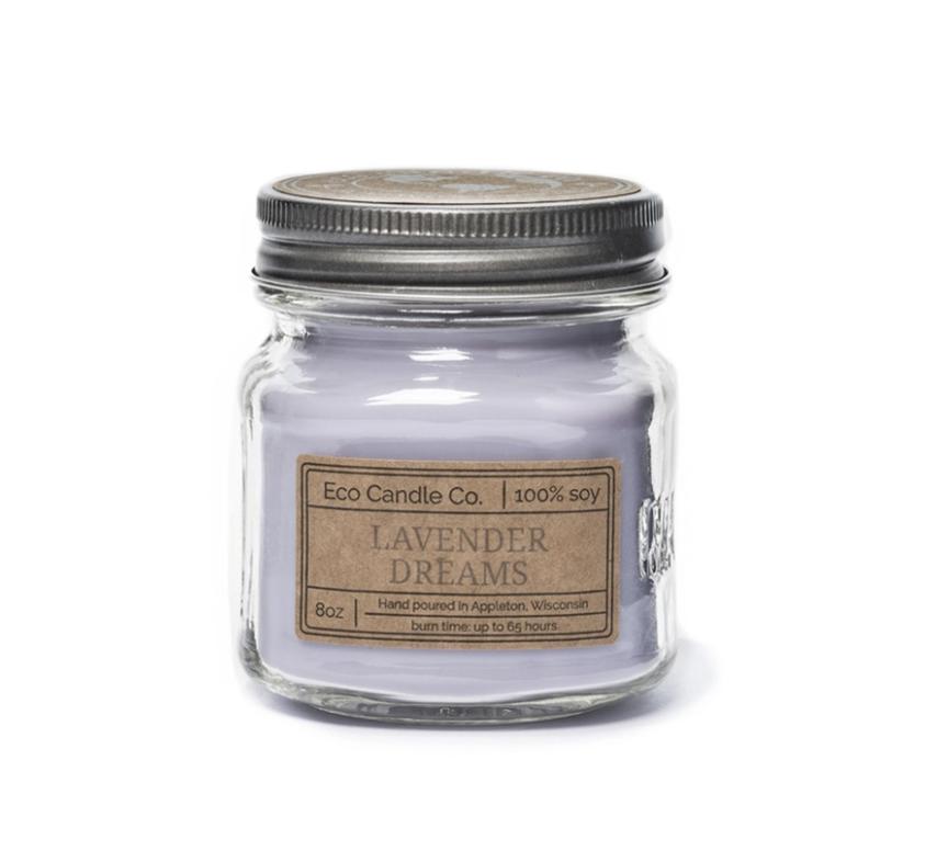 8oz Lavender Dreams Mason Jar Candle