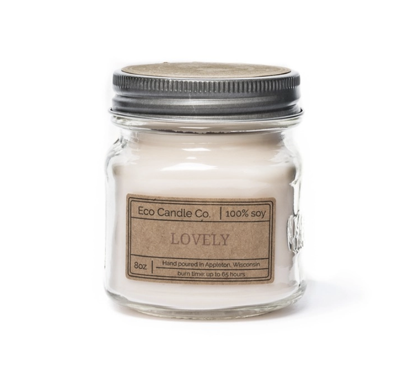 8oz Lovely Mason Jar Candle
