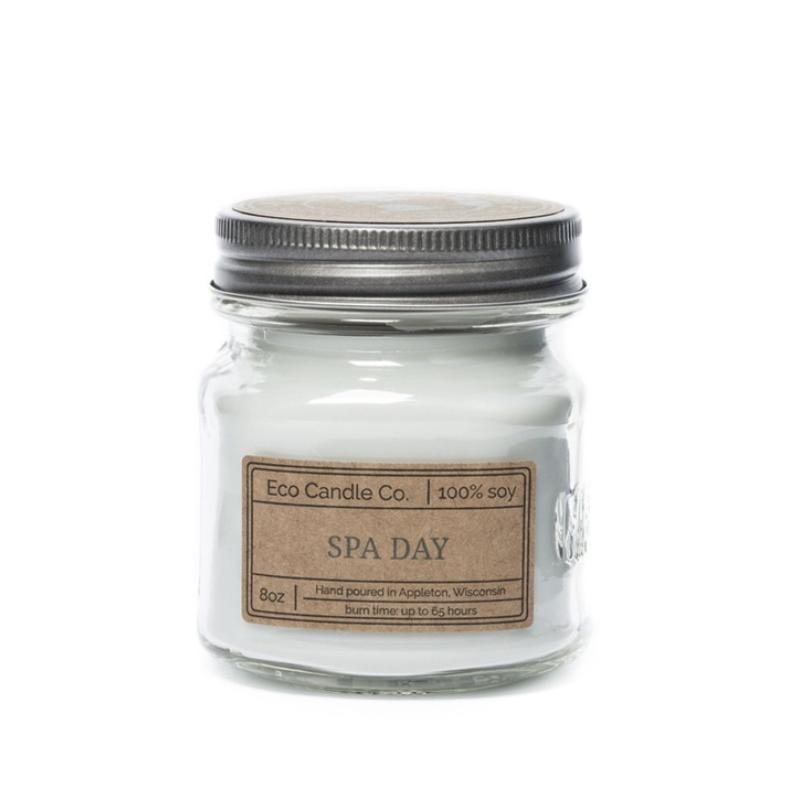 8oz Spa Day Mason Jar Candle