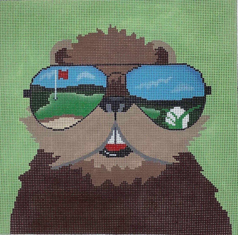 ZIA172 Gopher in Sunglasses Golf Danji Designs