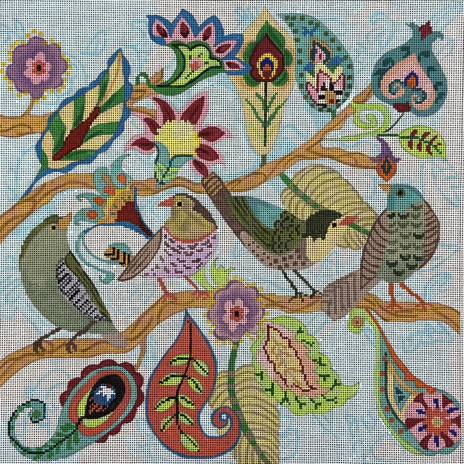 PS21 Paisley Bird Tree Tapestry Fair