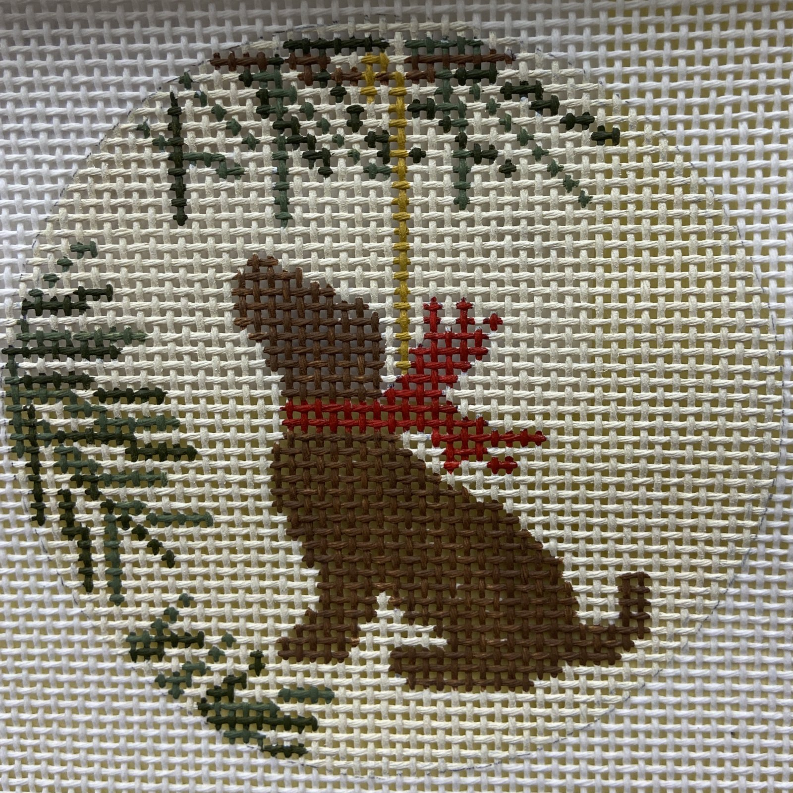 LM08 Chocolate Lab Ornament CBK Needlepoint Collections