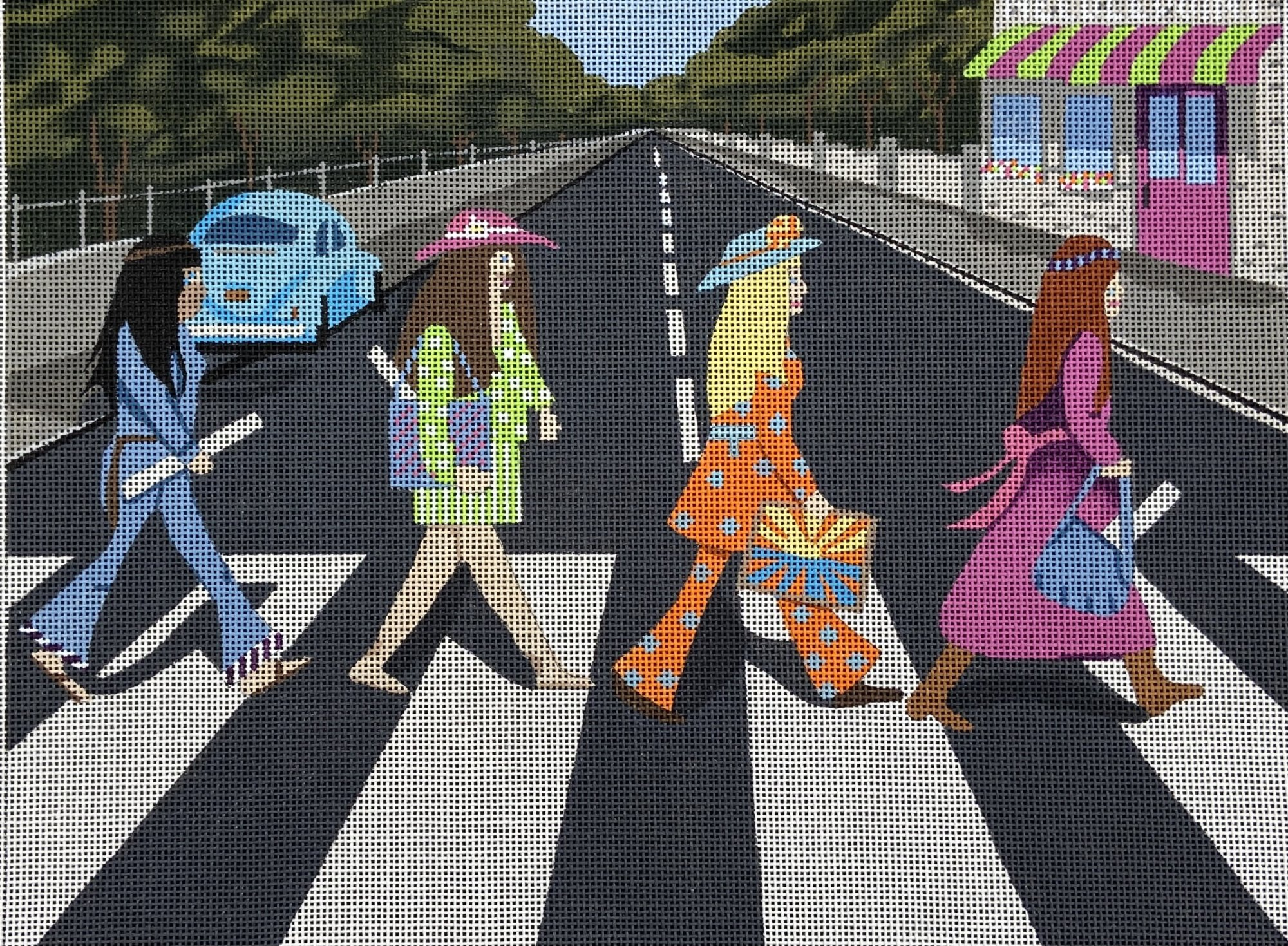 PPD869 Abby Road Girls Purple Palm Designs