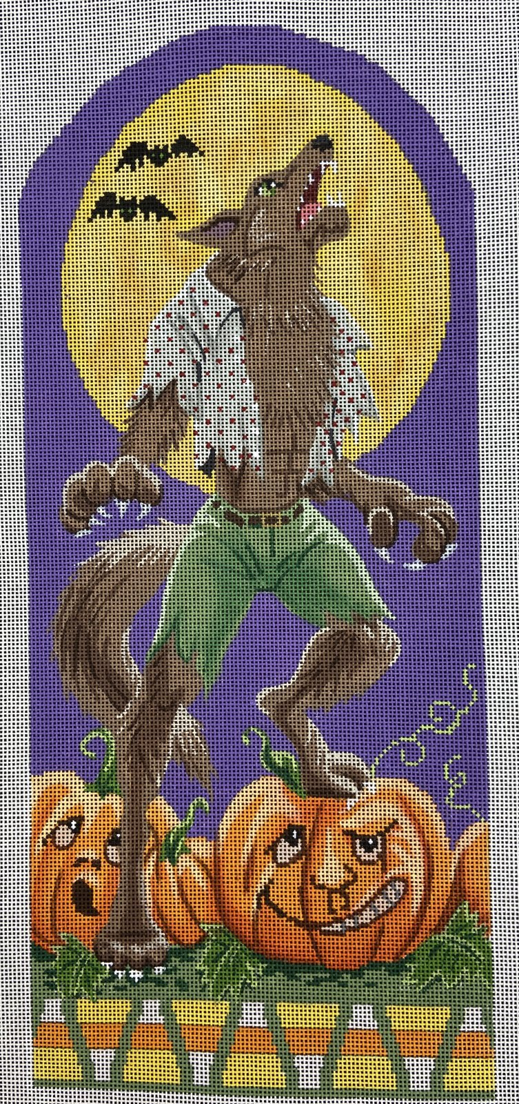 LL206 Werewolf in the Pumpkin Patch Halloween Stand Up Labors of Lover
