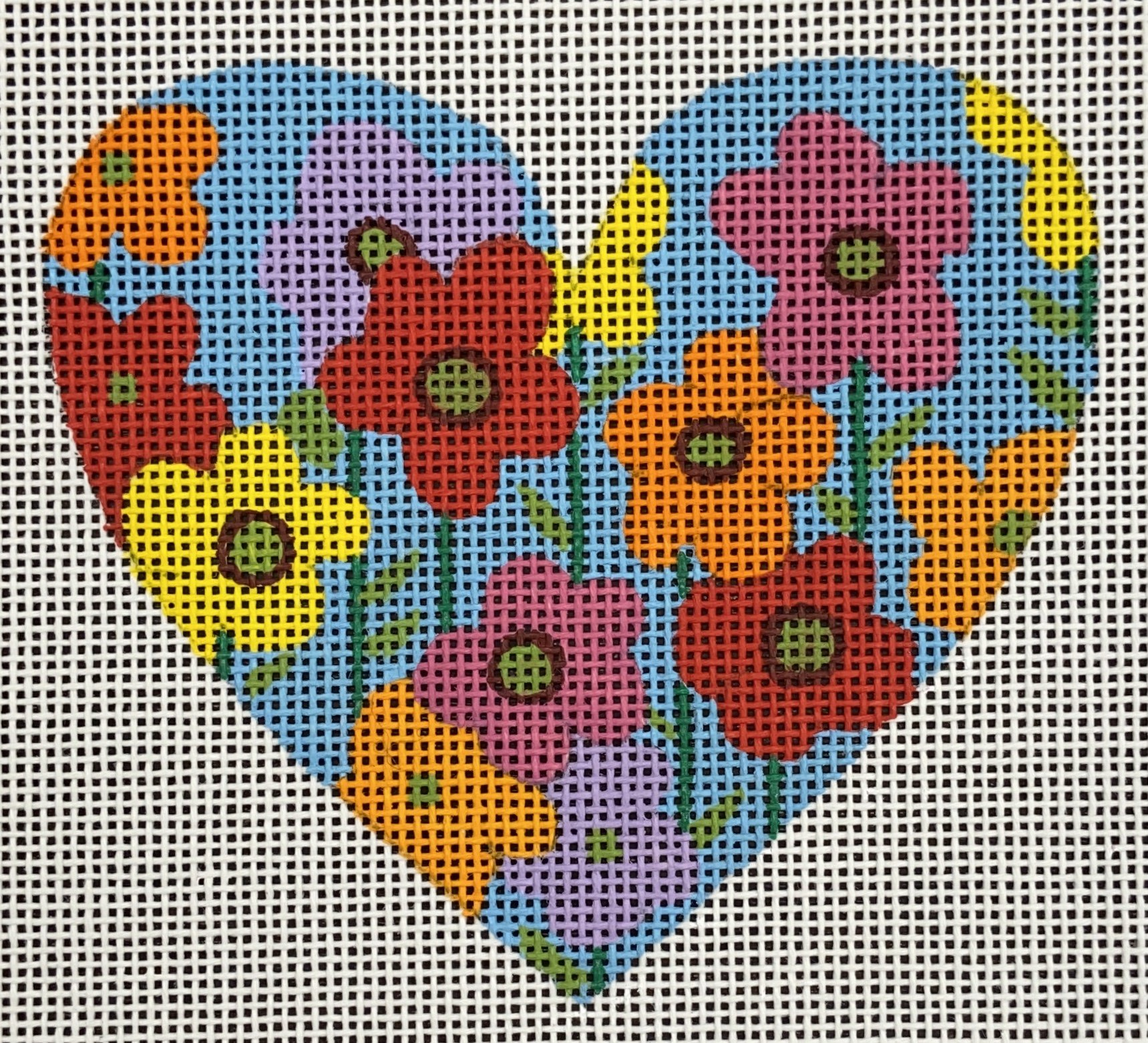 AWP4123A Heart with Flowers Ornament Ann Wheat Pace