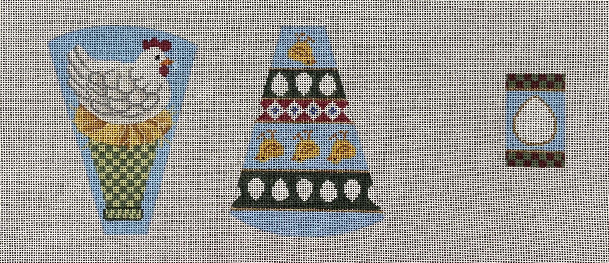B164 Scissor Case Chicken Egg Fob Brenda Stofft