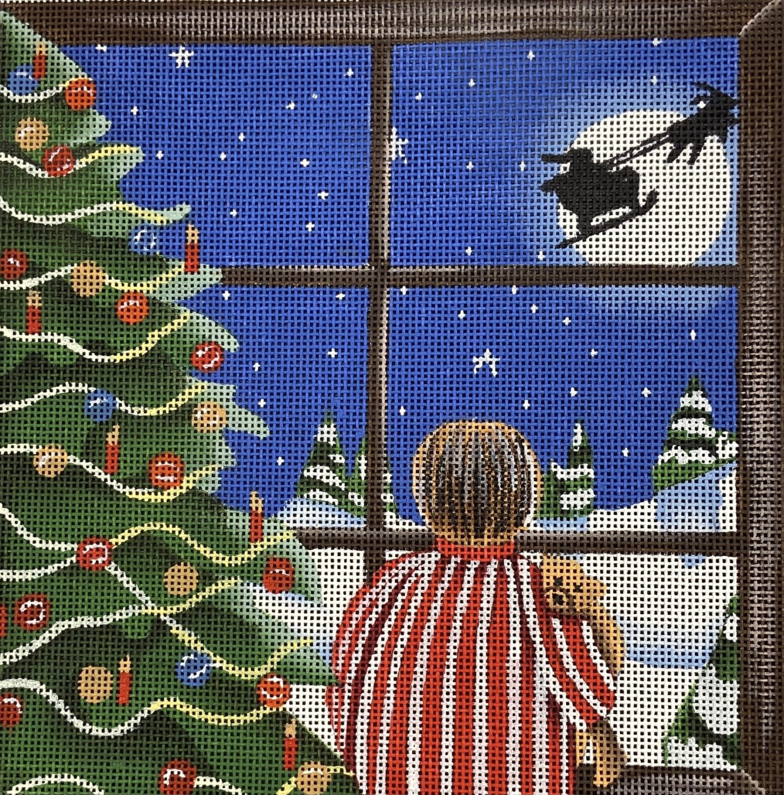 M1901 Boy Looking at Santa with Christmas Tree Maggie & Co