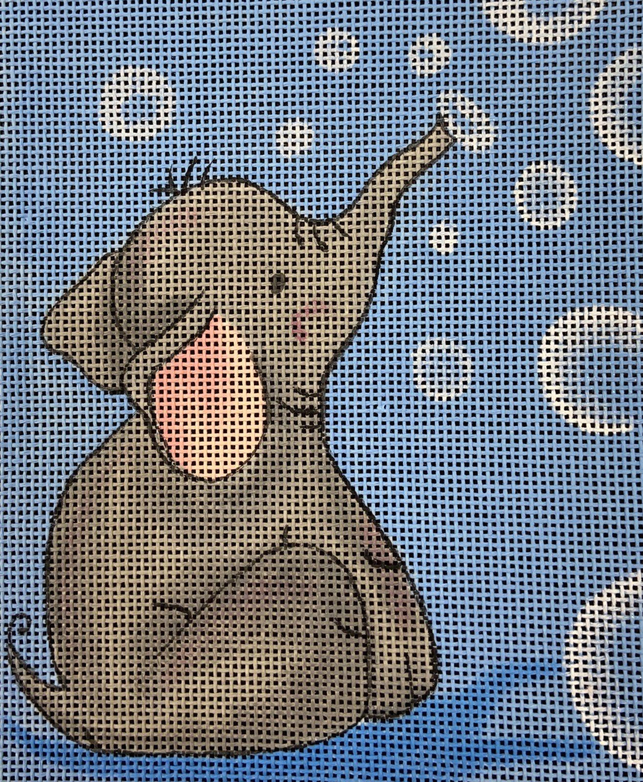 ONY4 Elephant Blowing Bubbles Oasis Needlepoint