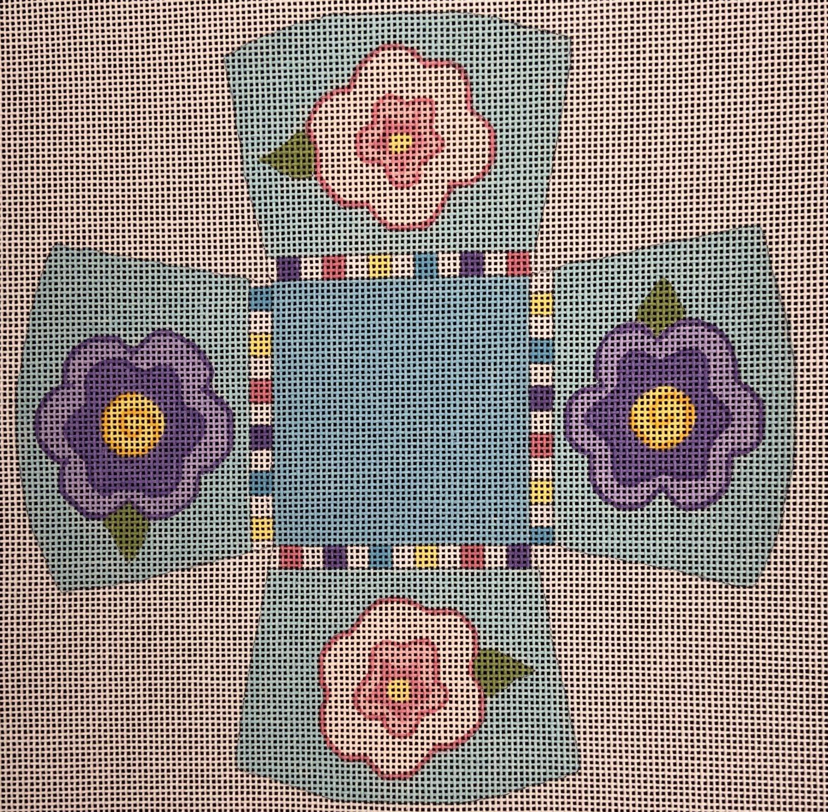 LS3D Mini Basket Flowers Little Shoppe Canvas Company