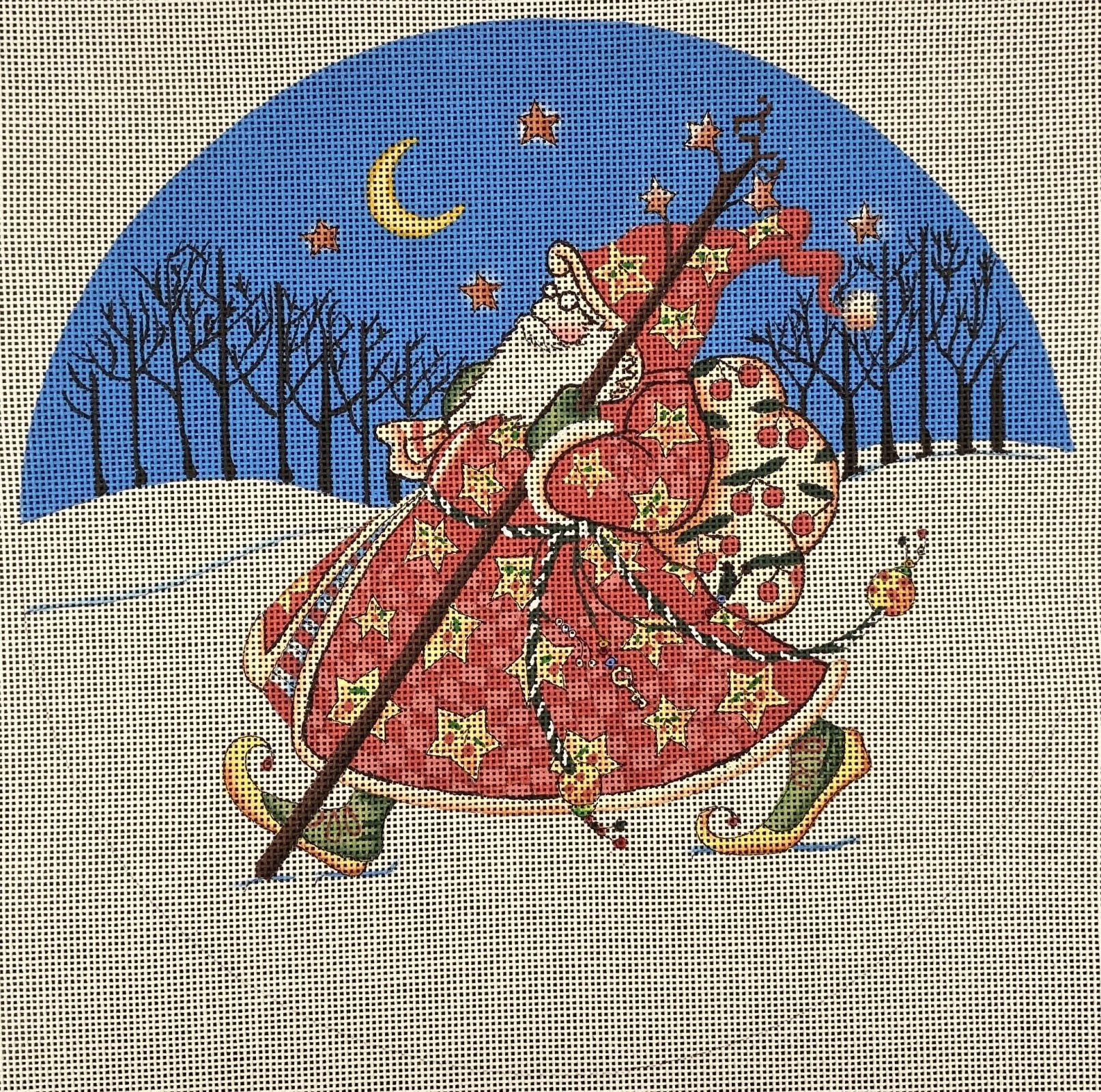 MESN02 Ole World Santa Walking at Night Painted Pony