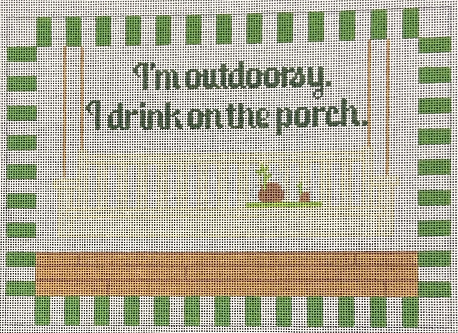 RD155 I'm Outdoorsy I Drink On The Porch Sign Rachel Donely