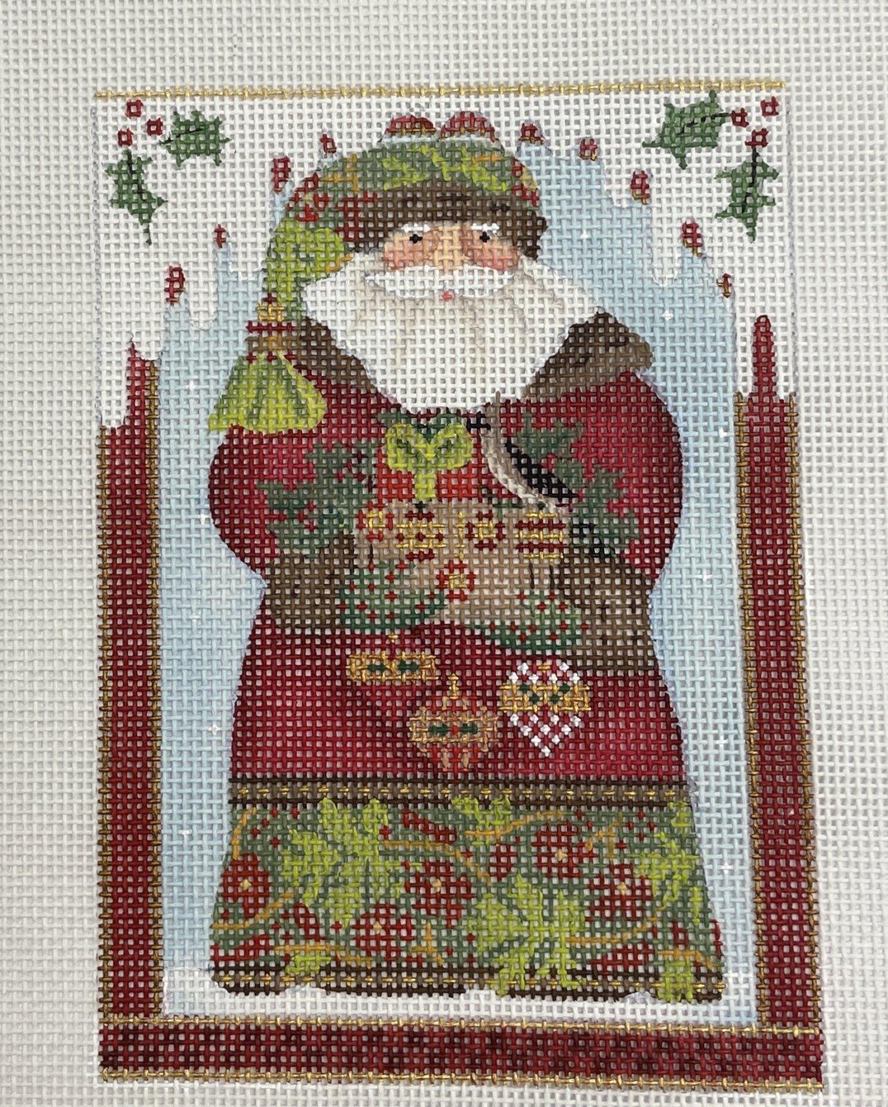 MS2201  Forest Santa Ornament Melissa Shirley