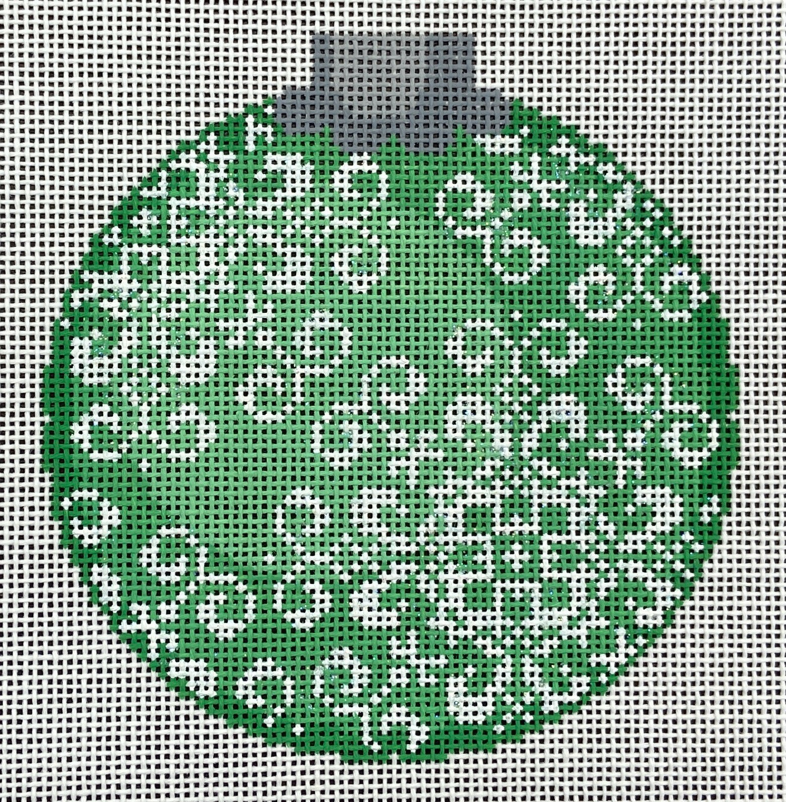 CO30 Snowflake Ornament Green Canvasworks Traditions
