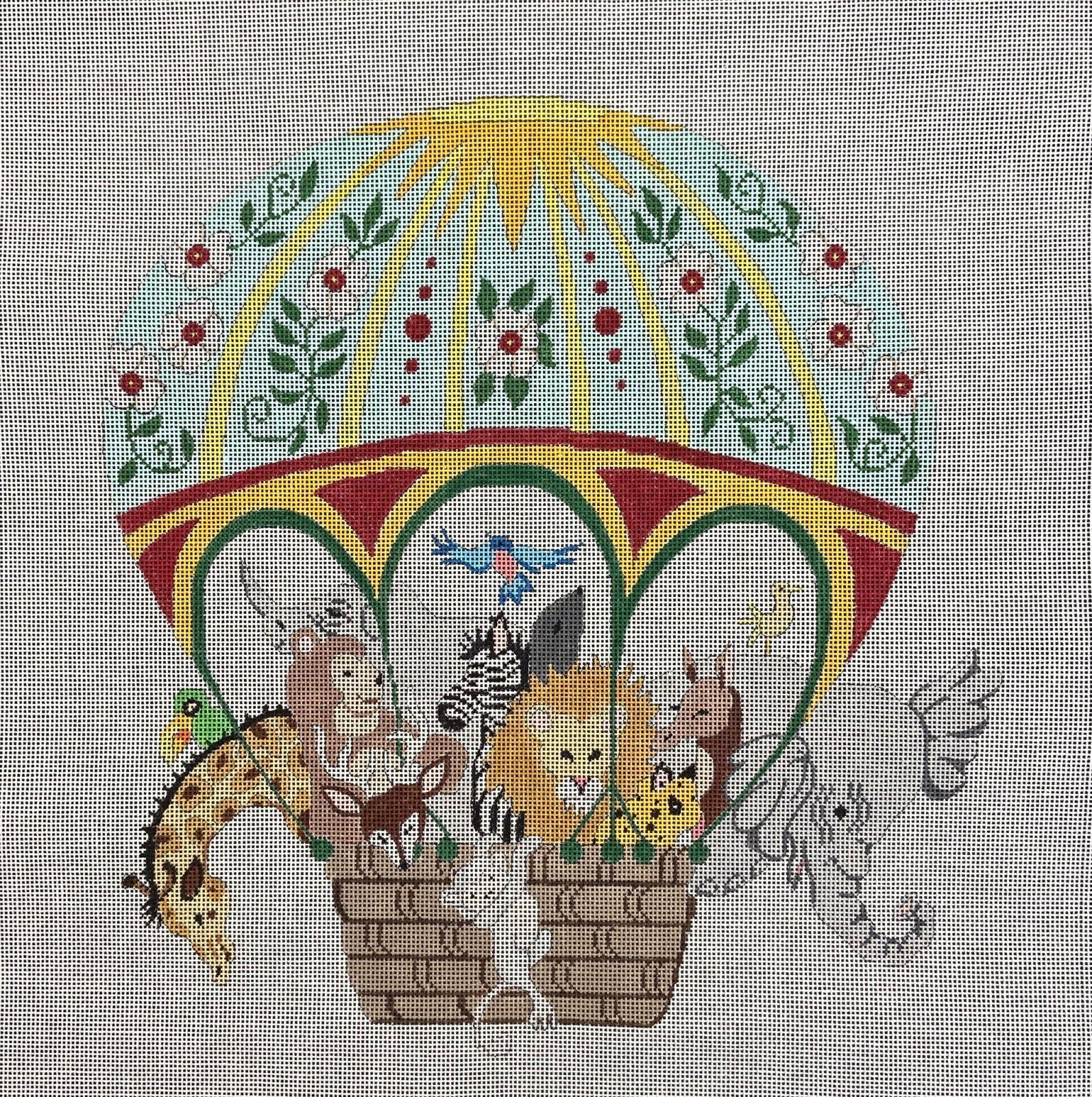 CBKP165 Baby Animals in a Ballon CBK Needlepoint Collections