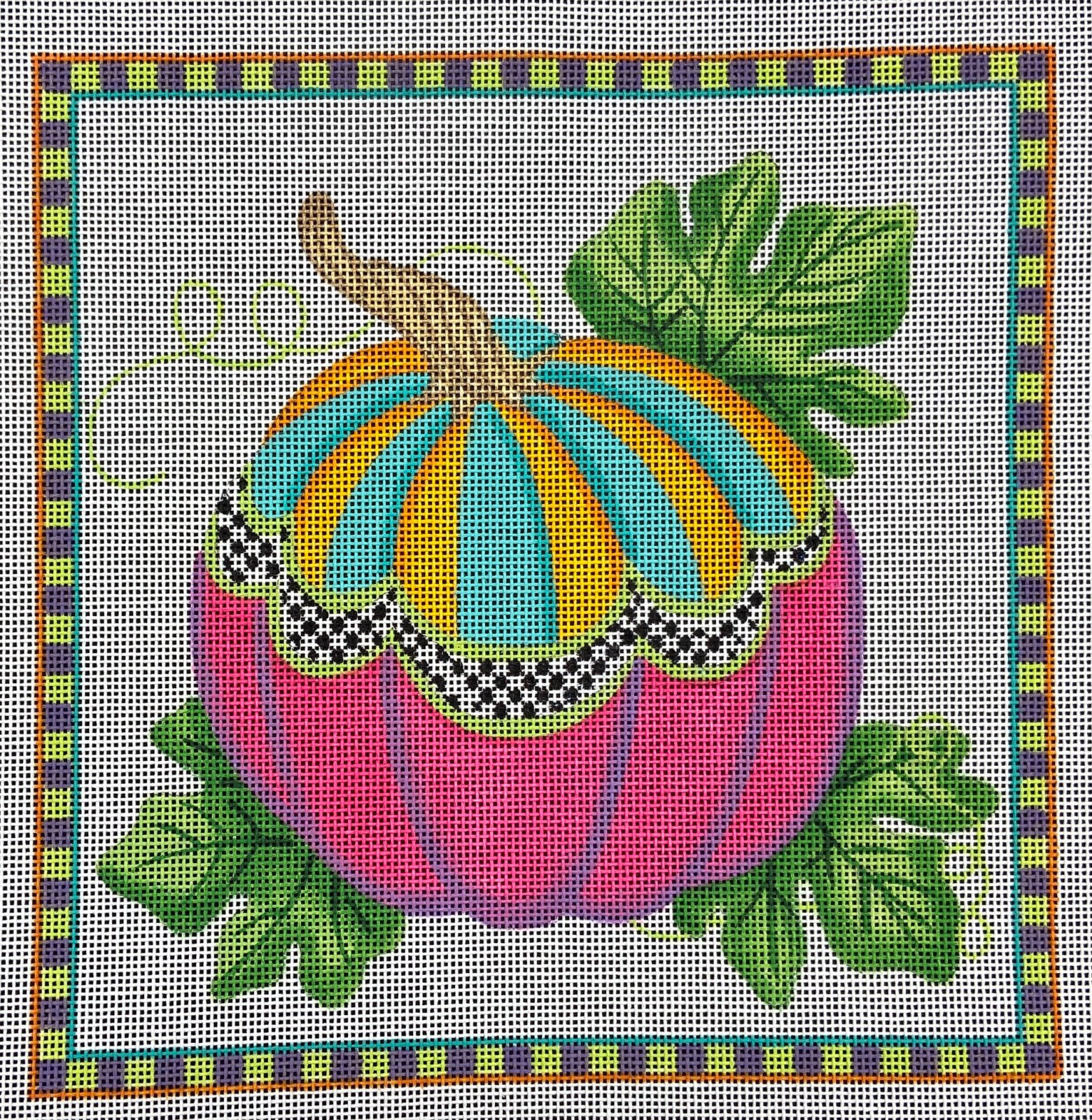 PL437 Funky Punkin Square Kate Dickerson