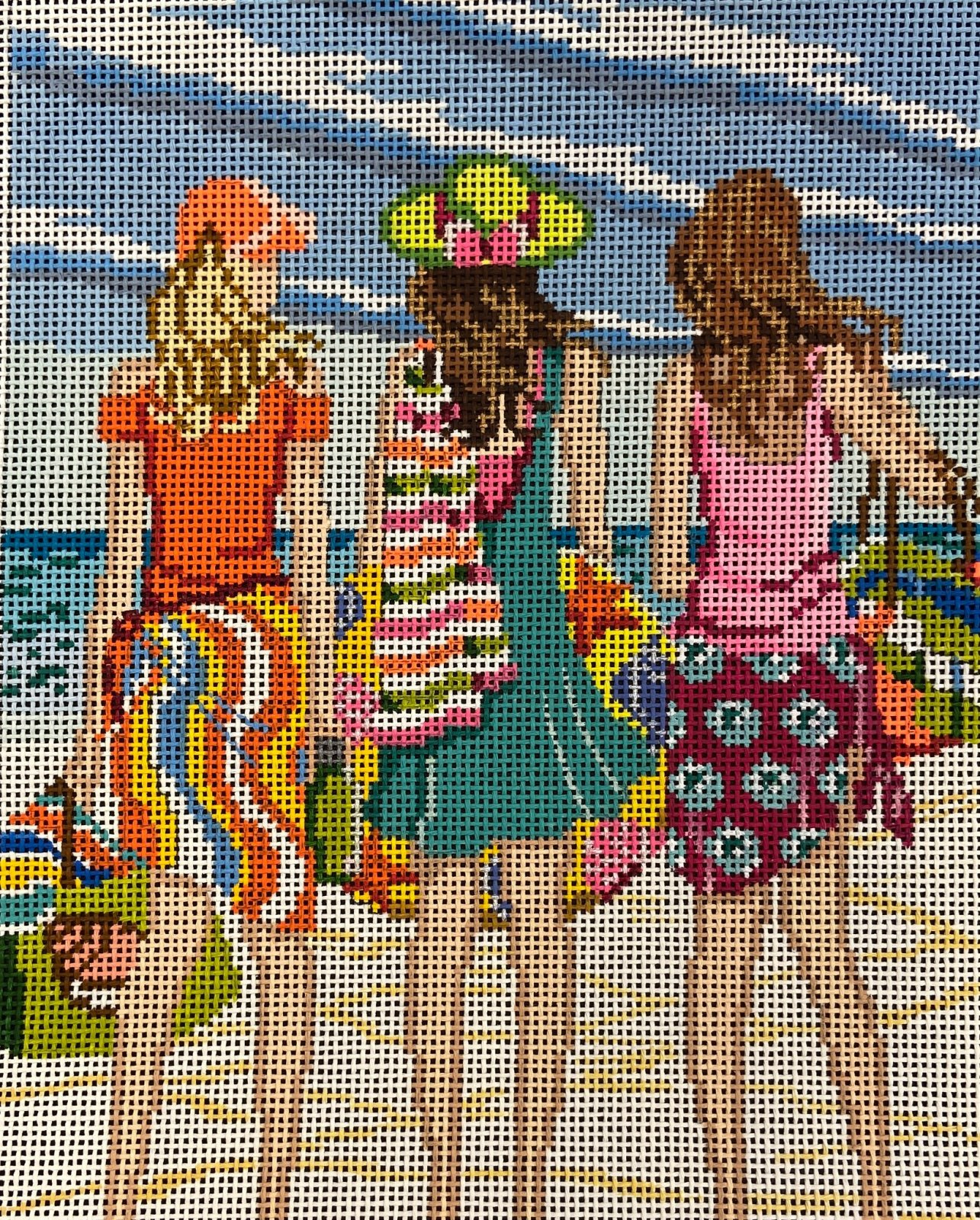 AP4150 Three Girls in the Summer Alice Peterson