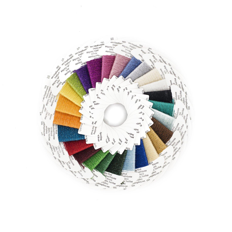 Glisten Wool Metallic Thread Rainbow Gallery