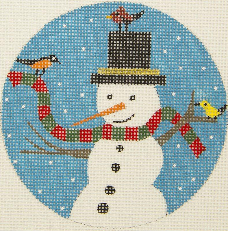 CB10 Frosty with tophat BB Needlepoint Designs