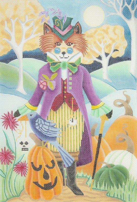 B345 Steampunk Fox on Halloween Brenda Stofft