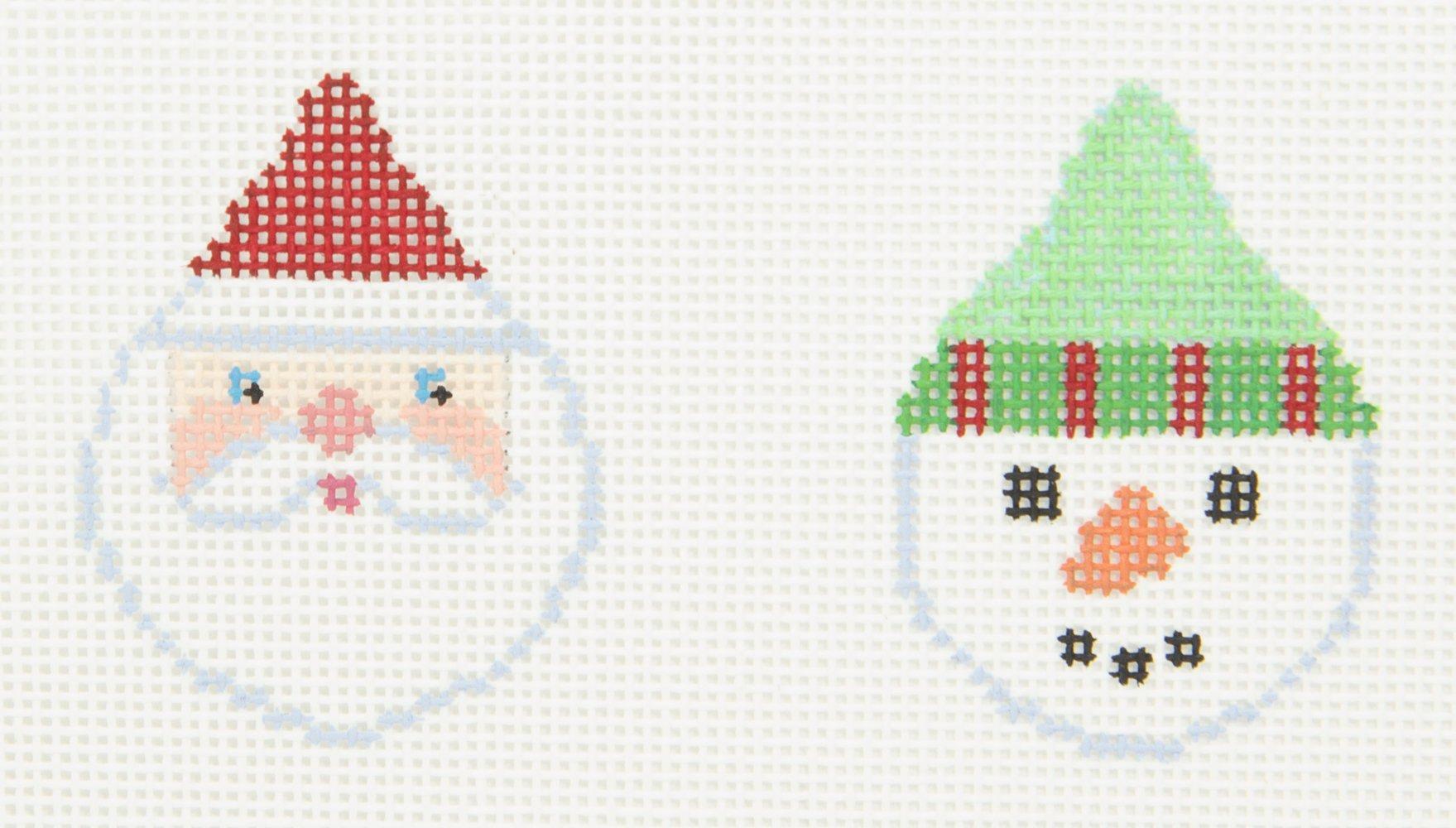 B502 Santa Snowman Mini Double Brenda Stofft Designs