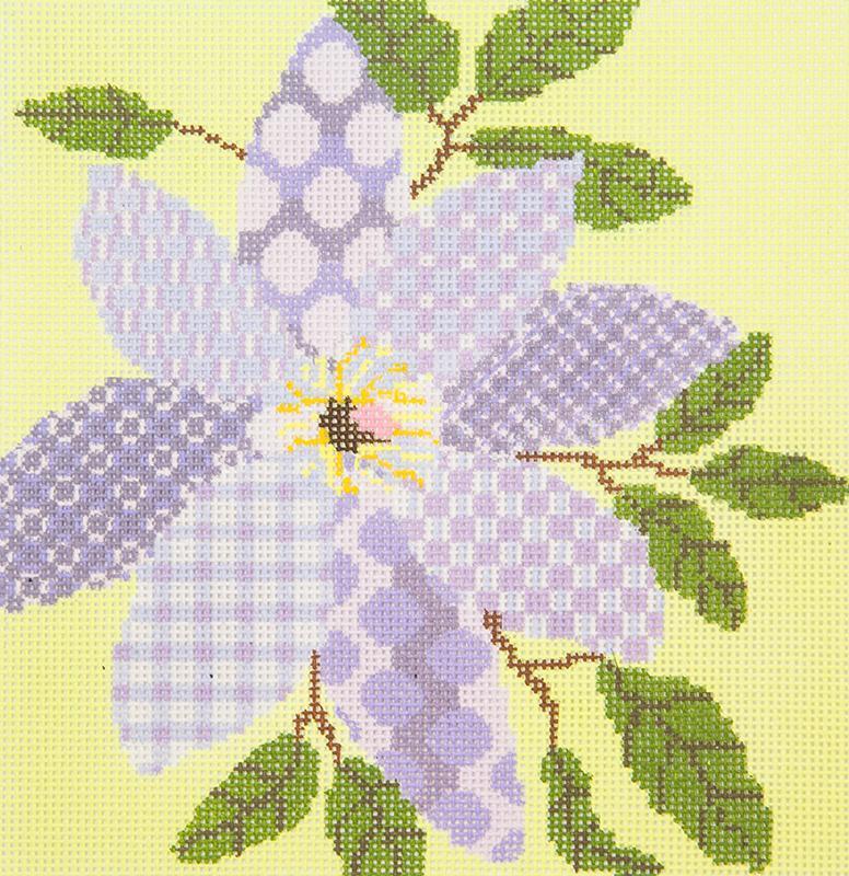 PATT241D Lavender Flower Patchwork