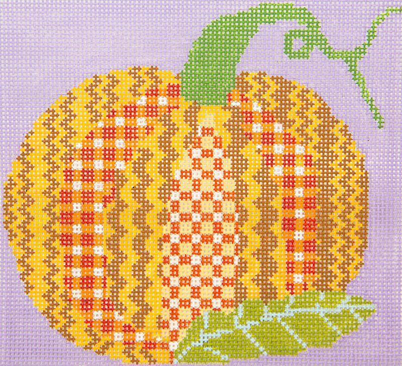 PATT283C Patchwork Pumpkin Halloween Chris Lewis