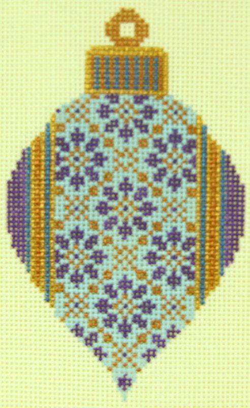 TM19 Purple Bulb Ornament
