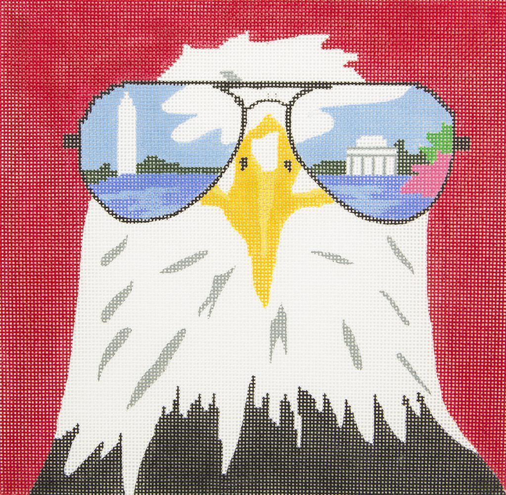 ZIA126 Eagle in Reflective Sunglasses Danji Designs